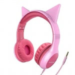 Wired Foldable Cat Ear Headphones...